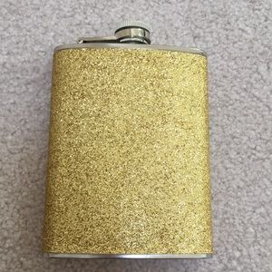 Gold Glitter Steel Flask